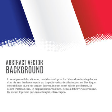 Vector background with French flag and copy space