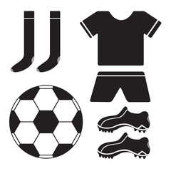 Set of soccer flat icon.