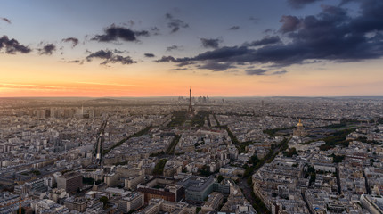 Panoramic view of Paris from Montparnasse Tower Panoramic Observation Deck