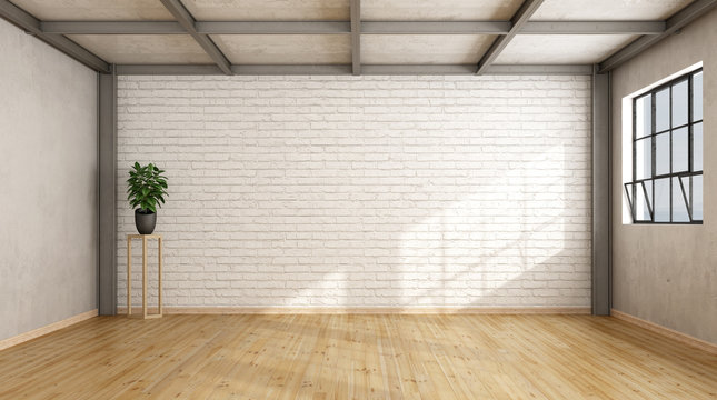 Empty contemporary loft