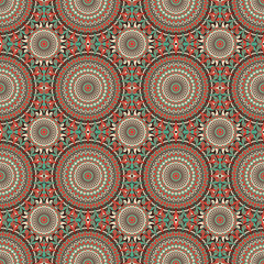 Poster Boho Stijl Abstract pattern seamless