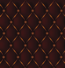 Elegant Leather pattern with diamond shapes. Vector