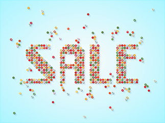Sale scattered beads banner. Sale tag. Sale poster. Sale vector. Vector illustration.