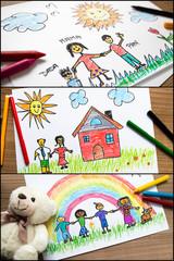 Verschiedene Kinderbilder