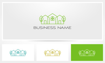 House Home Neighborhood Property Real Estate Logo