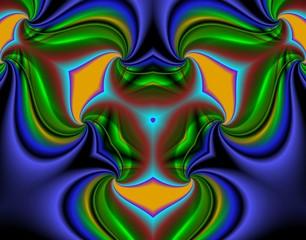 абстрактный разноцветный фон с завитками.