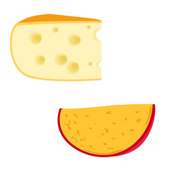 Vector illustration of cheese