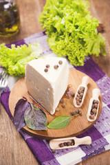 white fresh cheese