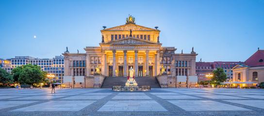 Poster Berlin Berlin Concert Hall at famous Gendarmenmarkt Square in twilight, Berlin, Germany