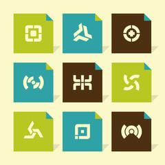 Vector Flat Icons Set - Abstract Symbols