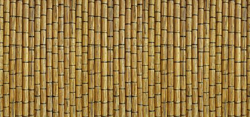 Wall made of reed mats.