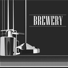 beautiful vector vintage brewery silhouette