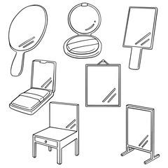vector set of mirror