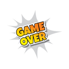 Game Over - Comic Speech Bubble Cartoon Game Assets