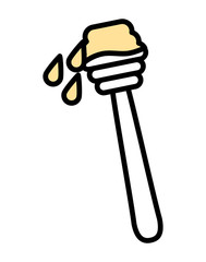 honey dipper isolated icon design