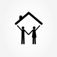 house family image, vector illustration