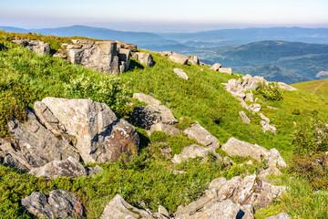 stones on the mountain top