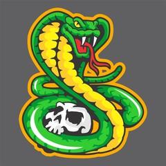 Snakes and skull Mascot