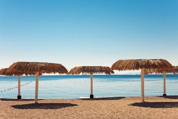 Empty beach of Eilat, Israel