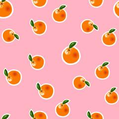 Vector orange pattern on pink background