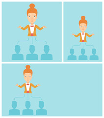 Business woman choosing employee.
