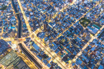 aerial view of cityscape of tokyo japan