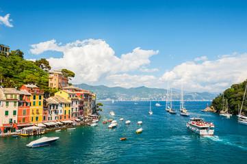Beautiful sea coast in Portofino, Italy