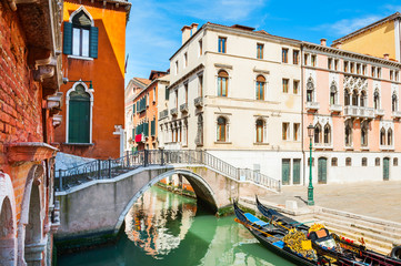 Scenic canal in Venice, Italy