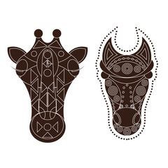 horse giraffe head decorated