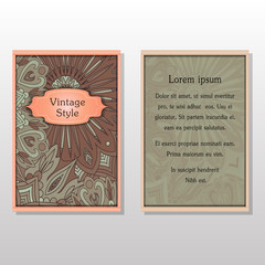 Cards or Invitations collection with Mandala round ornament Vintage decorative design elements for fabric paper print.