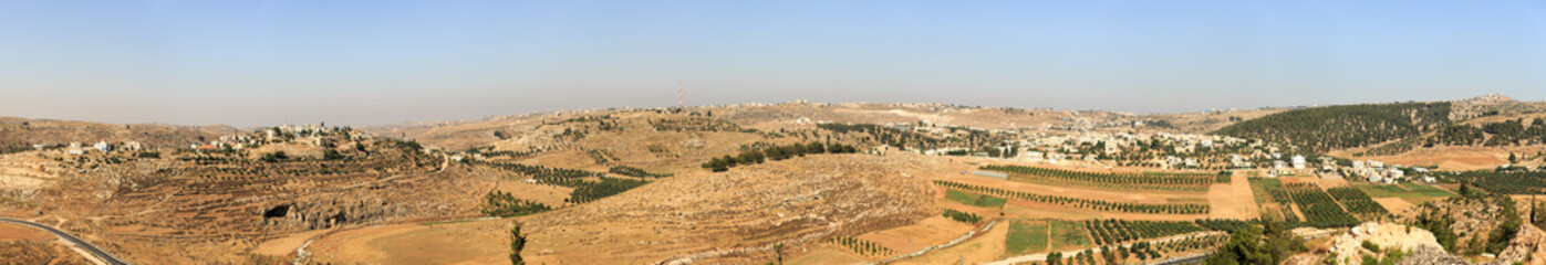 Panorama of two palestinian villages