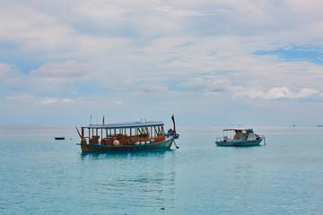 sailboat on the island