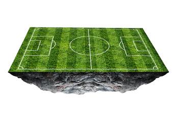 Soccer field floating island.