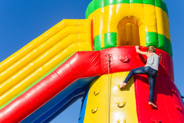 Playground Inflatable Castle Slide