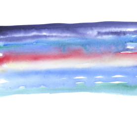 sky background watercolor hand drawn illustration