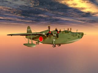 Japanisches Fernaufklärungsflugboot aus dem Zweiten Weltkrieg