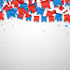 Background with flags.