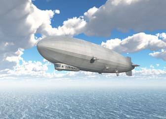 Zeppelin über dem Meer