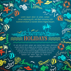 Vector summer vacation background.