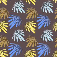 pattern seamless with leaf variegated on the brown background
