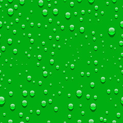 Water transparent drops seamless pattern.