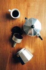 Italian Coffee Maker Unassembled
