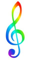 Violinschlüssel Bunt
