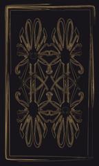 Tarot cards - back design, Omega