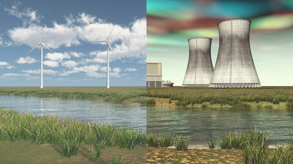 Erneuerbare Energien versus Atomkraft