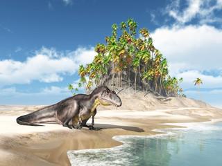 Dinosaur Tyrannotitan at the beach