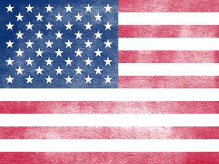 Grunge flag of United States of America