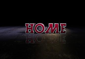 Home, Slogan, 3D Typography
