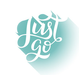 Just go lettering card