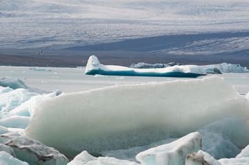 Islanda: iceberg nella laguna ghiacciata del Jokulsarlon il 19 agosto 2012. Jokulsarlon è un lago glaciale nel parco nazionale Vatnajokull